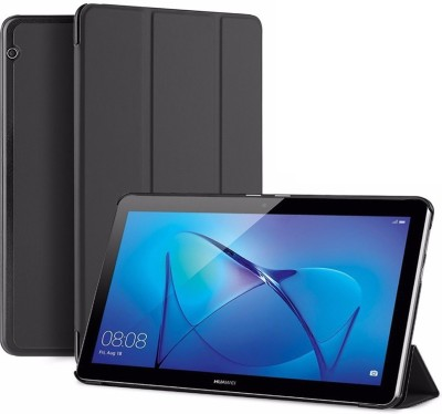 SPL Book Cover for Honor MediaPad T3 10 9.6 inch(Black, Artificial Leather, Plastic)