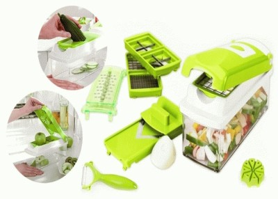 Blue Birds Nicer Dicer Plus by Genius | 13 pieces | kiwi-green | Fruit and vegetable slicer | As seen on TV Chopper(Green)  available at flipkart for Rs.548
