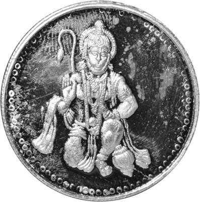 Kataria Jewellers Hanuman Ji S 999 10 g Silver Coin Kataria Jewellers Coins   Bars