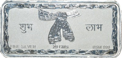Kataria Jewellers Shubh Labh S 999 20 g Silver Bar Kataria Jewellers Coins   Bars