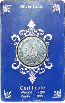 Kataria Jewellers Sherawali Ma S 999 5 g Silver Coin Kataria Jewellers Coins   Bars