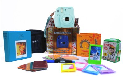 Fujifilm Instax mini 9 Ice Blue Festive pack Instant Camera(Blue) 1