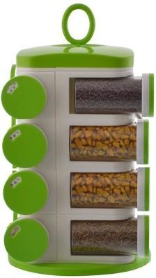 POGO Green 16 pcs Spice Plastic Kitchen Rack(Green)  available at flipkart for Rs.799
