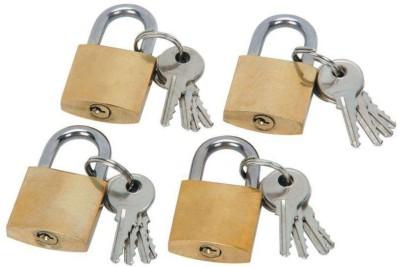 PTCMart Golden Lock 38MM Set of-4 Lock(Gold)