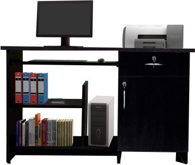 Crystal Furnitech Engineered Wood Computer Desk(Straight, Finish Color - Wenge)