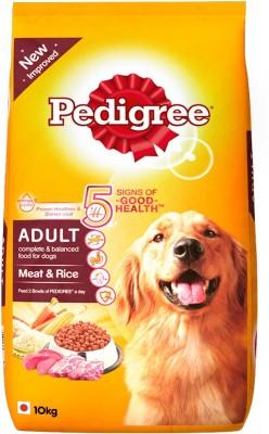 Pedigree Adult Meat & Rice Dog Food (10 kg)