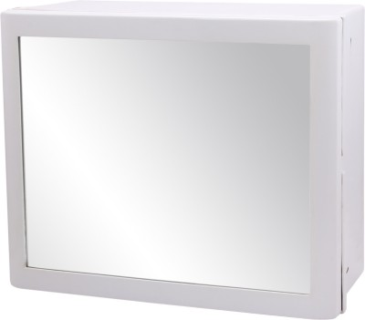 Wintex Recta Mirror Cabinet Plastic Wall Shelf(Number of Shelves - 5, White)