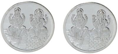 Kataria Jewellers Lakshmi Ganesha S 999 5 g Silver Coin Pack of 2 Kataria Jewellers Coins   Bars