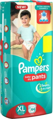 Pampers Pants Baby Diaper, XL 44 Pieces