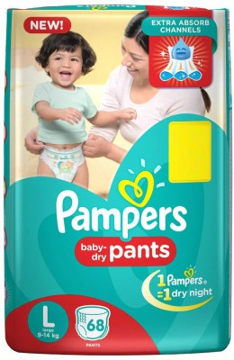 Pampers Large Size Diaper Pants - 68 Count
