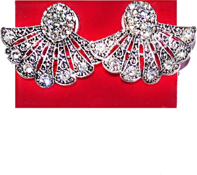 Serveuttam india Serveuttam Artificial Silver Earning Set Crystal Plastic Stud Earring  available at flipkart for Rs.148