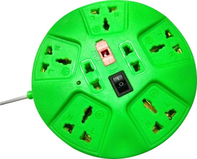 S.Blaze Multi-Colour 7 in 1 Rounded ABS Body Power Strip Extension cord with ON / OFF switch and indicator 3-4m lengthy wire, 2 Two Pin Socket + 5 A Three Pin Socket  available at flipkart for Rs.240
