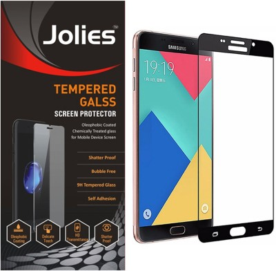 jolies Tempered Glass Guard for Samsung Galaxy A9 Pro (6 inch, Black) (Full Screen Coverage)(Pack of 1)