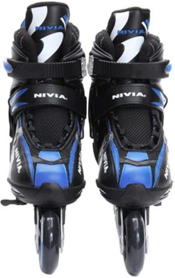 Nivia Super Inline Skates In-line Skates - Size 1-3.5 UK(Multicolor)