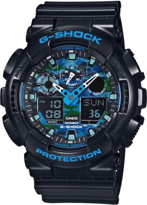 Casio G-Shock GA-100CB-1ADR (G625) Analog-Digital Blue Dial Men's Watch (GA-100CB-1ADR (G625))