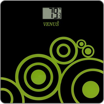 Venus Digital Glass Weighing Scale(Black)