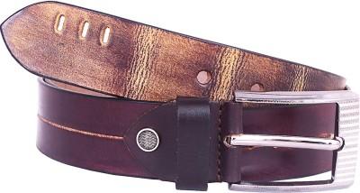 Trapos Creations Men Casual Black, Tan Genuine Leather Belt