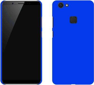 Case Creation Back Cover for VIVO V7 Plus(DARK ROYAL BLUE, Dual Protection, Plastic)