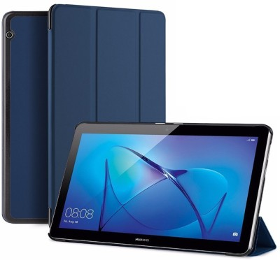 SPL Book Cover for Honor MediaPad T3 10 (9.6-inch) AGS-L09(Dark Blue, Artificial Leather, Plastic)