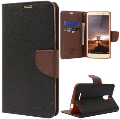 Dymex Wallet Case Cover for Motorola Moto E3 Power(Brown, Shock Proof, Artificial Leather)