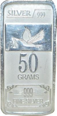 Kataria Jewellers Fine Silver S 999 50 g Silver Bar Kataria Jewellers Coins   Bars