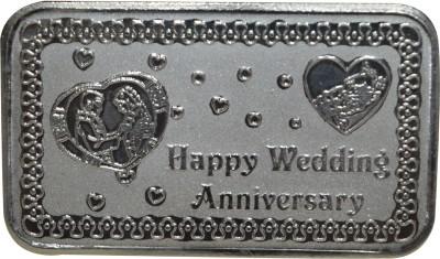 Kataria Jewellers Happy Wedding Anniversary S 999 100 g Silver Coin Kataria Jewellers Coins   Bars