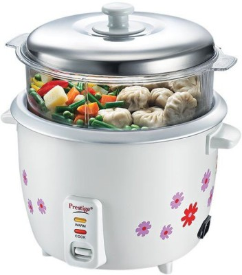 Prestige PRWOS 1.8 Electric Rice Cooker with Steaming Feature(1.8 L, White)