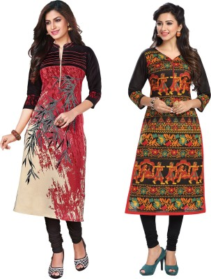 Ishin Cambric Cotton Printed Kurti Fabric(Un-stitched)