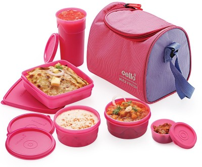 Cello Max Fresh Sling lunch 4 Containers Lunch Box(1000 L) at flipkart