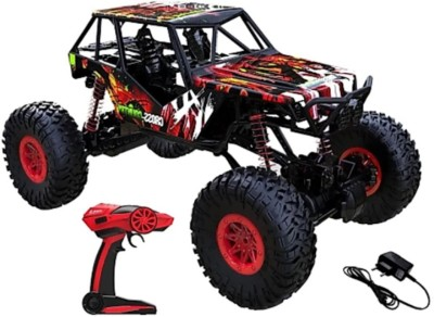 SANJARY LIMITED EDITION 2.4G 4WD 1:10 RC Off Road Rock Crawler Monster Truck (RED) (Multicolor)(Red) at flipkart