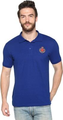 HARBOR N BAY Solid Men's Polo Neck Blue T-Shirt
