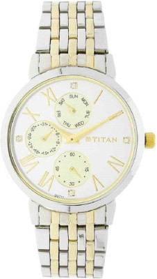 Titan Stainless Steel Strap Analog Watch  - For Women