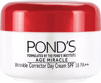 Ponds Age Miracle Wrinkle Corrector Day Cream SPF 18 PA++(10 g)  available at flipkart for Rs.100