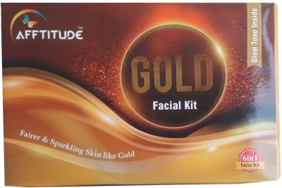 Afftitude Women 100 % Natural Organic Instant and Brighter Glow 6 in 1 Gold Facial Kit A herbal Preparation No Side Effect 340 g  available at flipkart for Rs.645