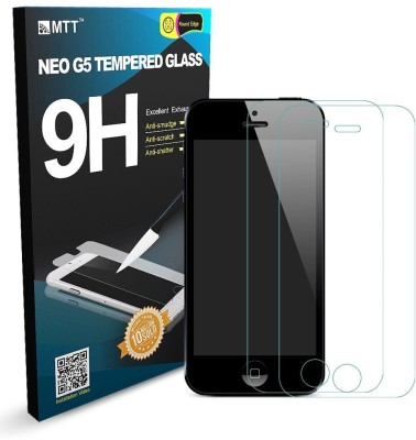 MTT Tempered Glass Guard for Apple iPhone 5, Apple iPhone 5C, Apple iPhone 5s(Pack of 2)
