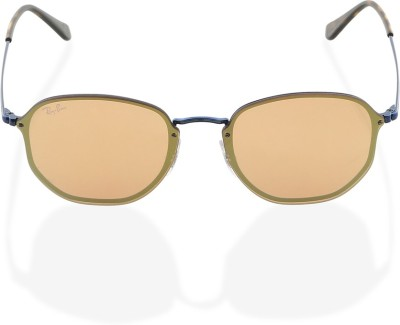 Ray-Ban Retro Square Sunglasses(Golden) at flipkart