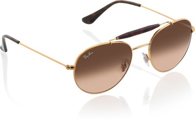 Ray-Ban Oval Sunglasses(Brown)