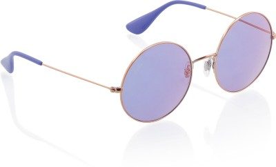 Ray-Ban Round Sunglasses(Red) at flipkart