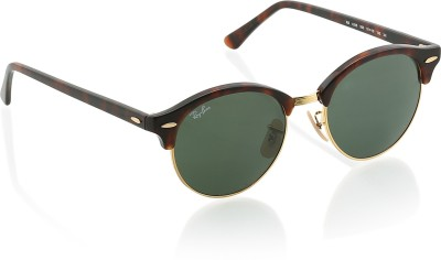 Ray-Ban Clubmaster Sunglasses(Green) at flipkart