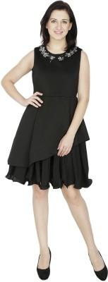 RITU DESIGNS Women Layered Black Dress
