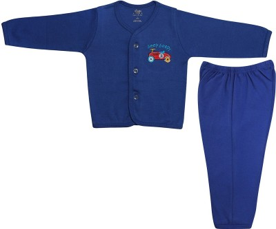 Cradle Togs Baby Boys & Baby Girls Casual Top Pyjama(Light Blue)