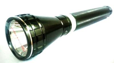 Black Akari torch 2100l 1000metres long range power light rechargable Torch(Black : Rechargeable) at flipkart