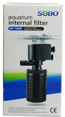 Sobo Aquarium Internal Filter WP-1200F Corner Aquarium Filter(Mechanical Filtration for Salt Water and Fresh Water)  available at flipkart for Rs.440