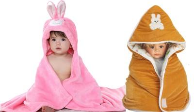 My NewBorn Cartoon Crib Crib Baby Blanket(Polyester, Pink, Beige)