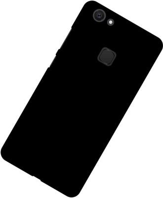 Case Creation Back Cover for VIVO V7 Plus(DARK BLACK, Dual Protection, Plastic)