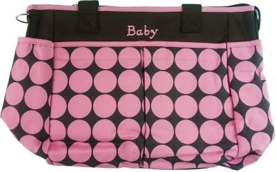 Baby Nappy Changing Bag, Mother's Bag Pink Polka Dots Baby Diaper Bag Pink