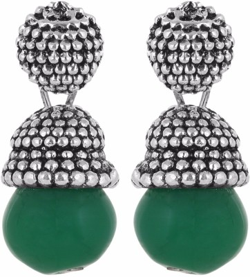 IDEAZ Ideaz Oxidised metal studded kundan drop earrings for women Alloy Drop Earring  available at flipkart for Rs.149