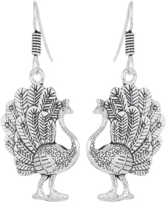 IDEAZ Ideaz Ethnic metal fusion peacock dangle hoop earrings Alloy Dangle Earring  available at flipkart for Rs.149