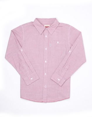 Levi's Boys Striped Casual Pink Shirt  available at flipkart for Rs.549