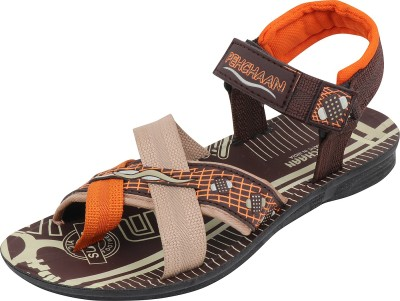 PU PEHCHAAN Men Brown Sandals  available at flipkart for Rs.199